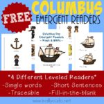 Columbus Day Emergent Readers {NEW Subscriber Freebie}
