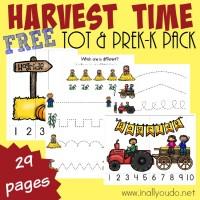Harvest Time Tot & PreK-K Pack {Subscriber Freebie}