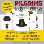 Pilgrims Emergent Readers {NEW Subscriber Freebie}
