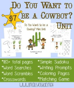 Do you want to be a cowboy? Unit