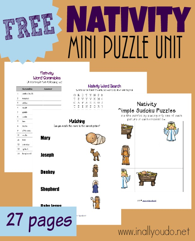 This Fun Nativity Puzzle Activity Unit Is A Great Way To Prepare Little Hearts For