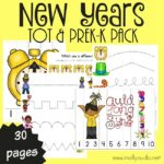 New Years Tot & PreK-K Pack {31 pages}