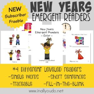The New Year will be here before you know it, so start preparing now! Get these fun New Years Emergent Readers for your little ones! {4 levels} :: www.inallyoudo.net