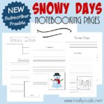 Snowy Days Notebooking Pages