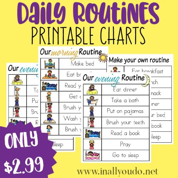 Whether you're starting New Year's Resolutions or just want to help your kids with their daily routines, these printable charts can help! Choose from preassembled or make your own! :: www.inallyoudo.net