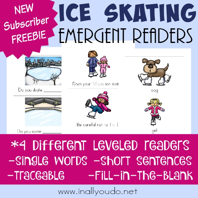Ice Skating Emergent Readers