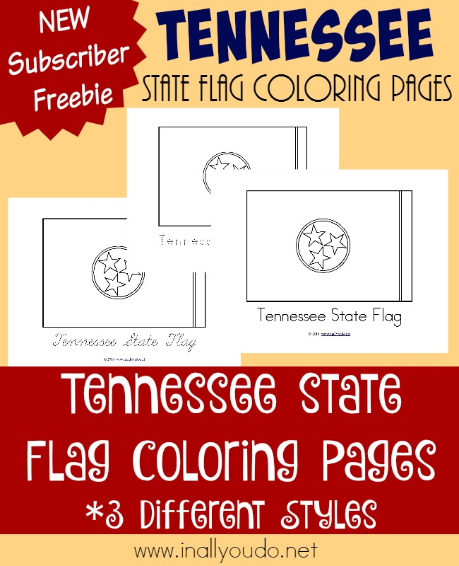 Across the usa in 31 days tennessee in all you do for Tennessee state flag coloring page