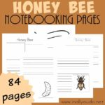 Honey Bee Notebooking Pages {84 pages}