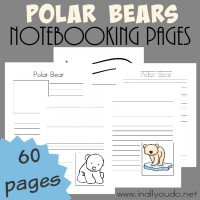 Polar Bear Notebooking Pages & Hearts 4 Home Link-up