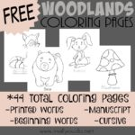 Woodlands Coloring Pages {FREEBIE}