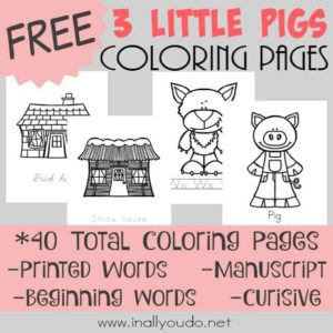 3 Little Pigs Coloring Pages