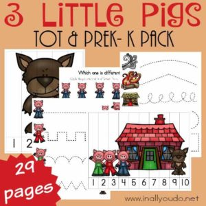 3 Little Pigs Tot/PreK Pack ~ Part One