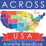Across the USA: Geography Printables for All 50 States