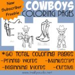 NEW Cowboy Coloring Pages