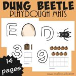 Dung Beetle Playdough Mats