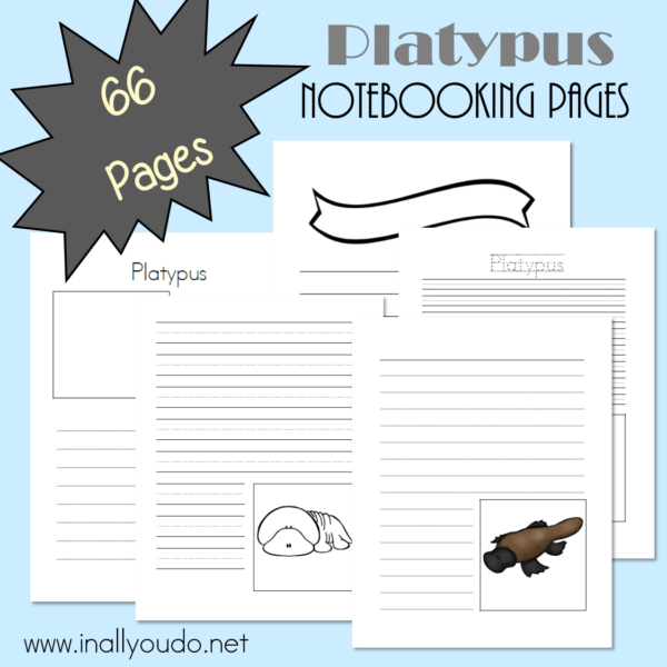 Does anyone else think the Platypus is cute? No? Just me? Well, these notebooking pages are a great way to record all kinds of fascinating facts, regardless of how cute you think they are! :: www.inallyoudo.net