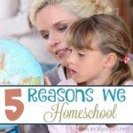 5 Reasons We Homeschool