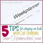 5 Tips for Staying on Task without Planning Your Homeschool Year