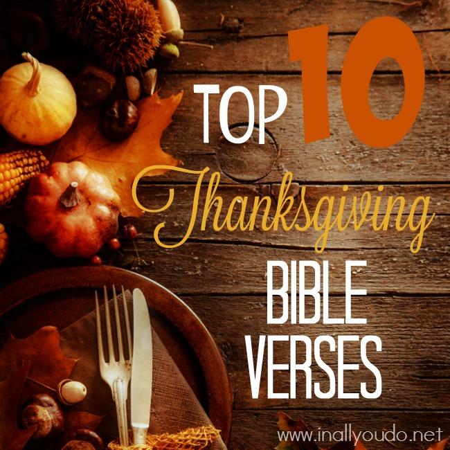 Top 10 Thanksgiving Bible Verses