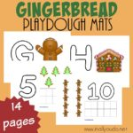 Gingerbread Playdough Mats