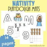 Nativity Playdough Mats