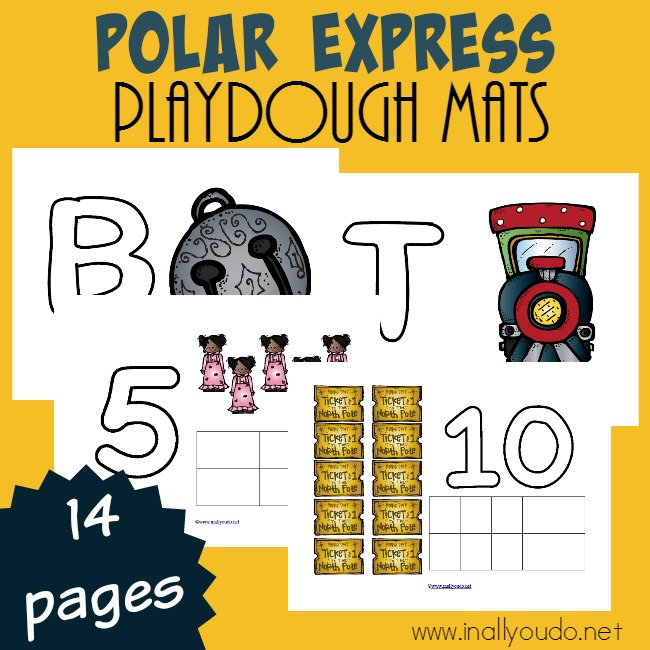One of the most beloved movies of the Christmas season in our house. These fun Playdough Mats are perfect for Polar Express enthusiasts and tots working on their fine motor skills! :: www.inallyoudo.net