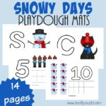 Snowy Days Playdough Mats