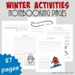 Winter Activities Notebooking Pages