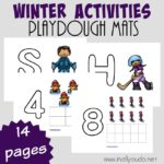 Winter Activities Playdough Mats