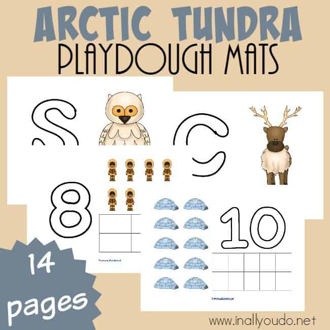 Arctic Tundra Playdough Mats