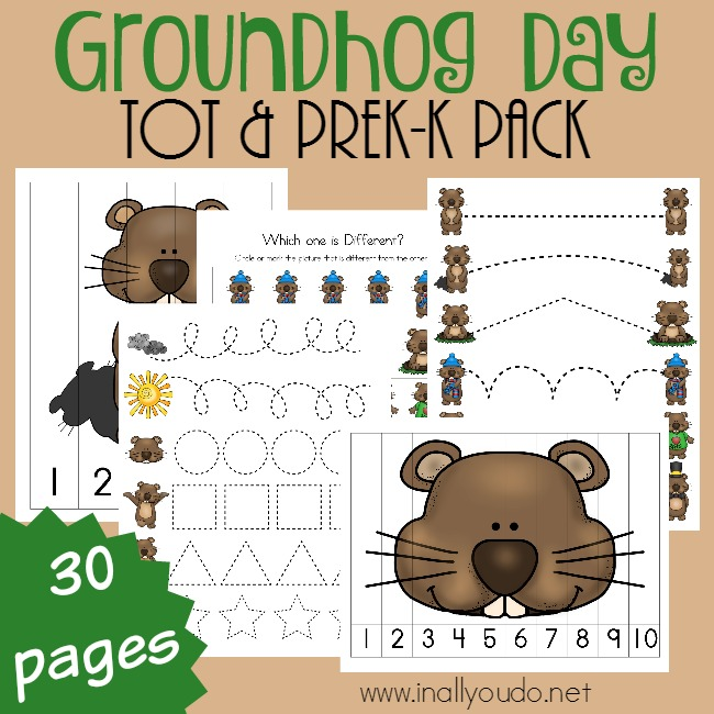 Groundhog Day Tot & PreK-K Pack