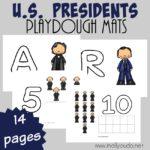 U.S. Presidents Playdough Mats
