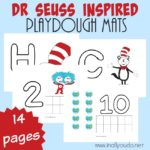 Dr. Seuss Inspired Playdough Mats