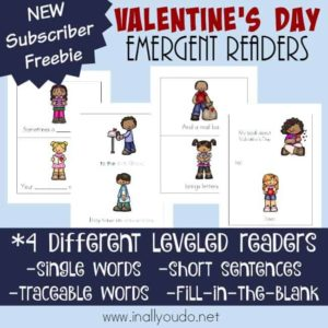 Little ones love to be involved in learning. These fun Valentine's Day Emergent Readers are perfect for bringing them in to learn while having fun! :: www.inallyoudo.net