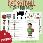 "Basketball ""I Spy"" Fun Pack"