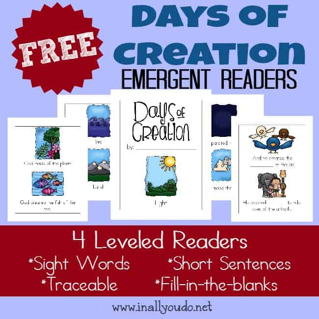 Days of Creation Emergent Readers