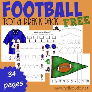 Football Tot/PreK Pack