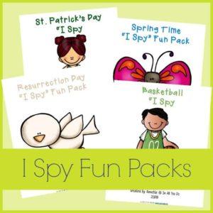 I Spy Packs