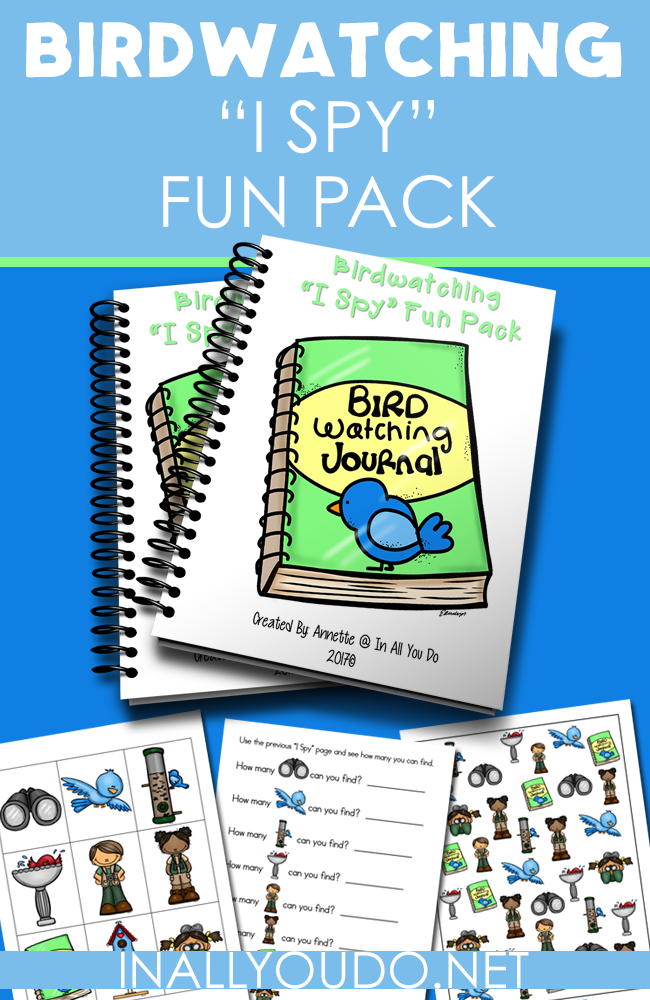 "Who doesn't love a fun game of ""I Spy""? Grab this fun little Birdwatching ""I Spy"" pack perfect for any young birdwatching fan! :: www.inallyoudo.net"