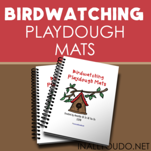 Do your little ones love watching birds fly through the yard and to their nests? Then they will love these adorable Birdwatching Playdough Mats! Includes 4 letters and numbers 1-10. :: www.inallyoudo.net