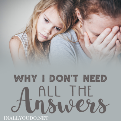 Why I Don't Need All the Answers