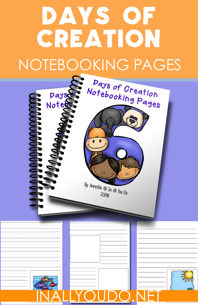 Students can work on memorizing and knowing what God created on each day with these Days of Creation Notebooking Pages. :: www.inallyoudo.net