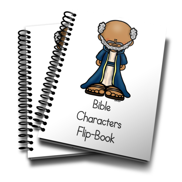 This fun mini flip book is perfect for any Sunday School or preschool class to 12 Bible Characters from the Old and New Testament. Available in COLOR and Black & White. :: www.inallyoudo.net