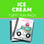 Ice Cream themed I Spy Fun Pack