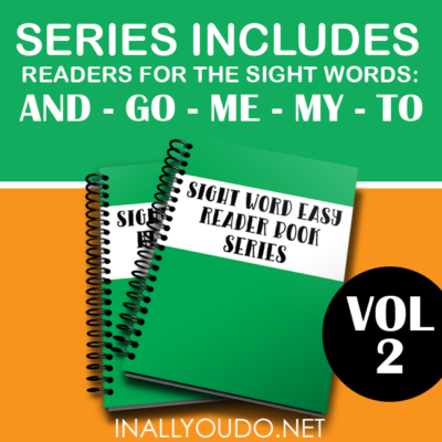 Sight Word Early Readers – Vol 2 {and, go, me, my, to}