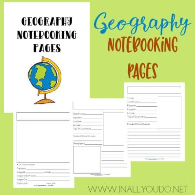 Geography Notebooking Pages for Middle & High School