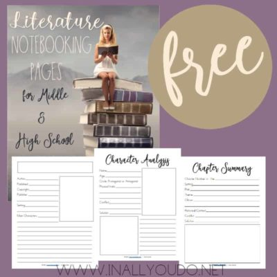 Literature Notebooking Pages