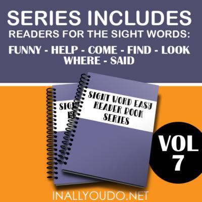 Sight Word Easy Readers – Volume 7
