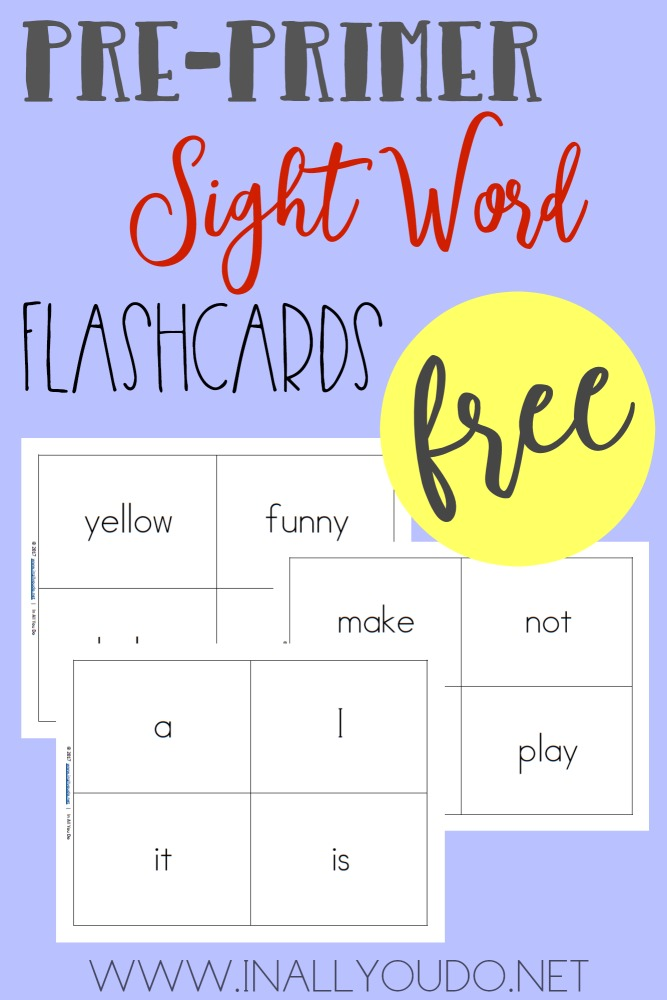 these printable sight word flashcards are the perfect way to help kids memorize andor