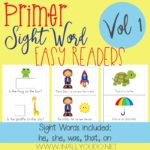 Primer Sight Word Easy Readers – Vol 1